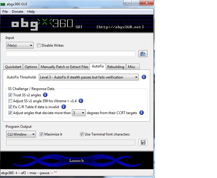 configuración abgx360 autofix