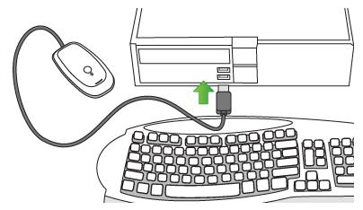 Como conectar mando Xbox360 al PC - conectar xbox 360 receptor inhalambrico, como usar mando de xbox en pc